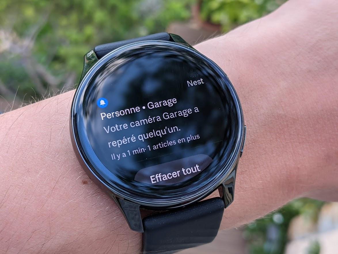 Un exemple de notification sur la OnePlus Watch