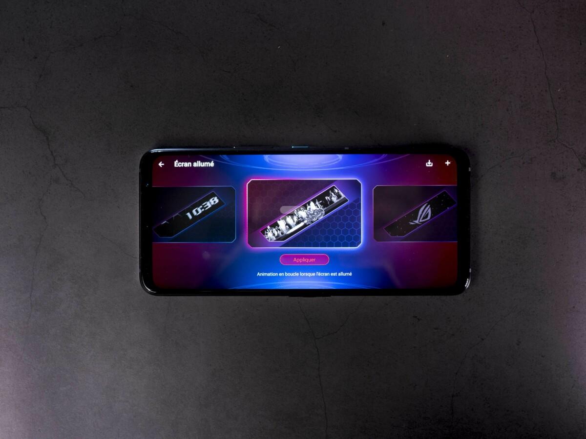 L'application Armoury Crate permet de personnaliser l'écran ROG Vision au dos