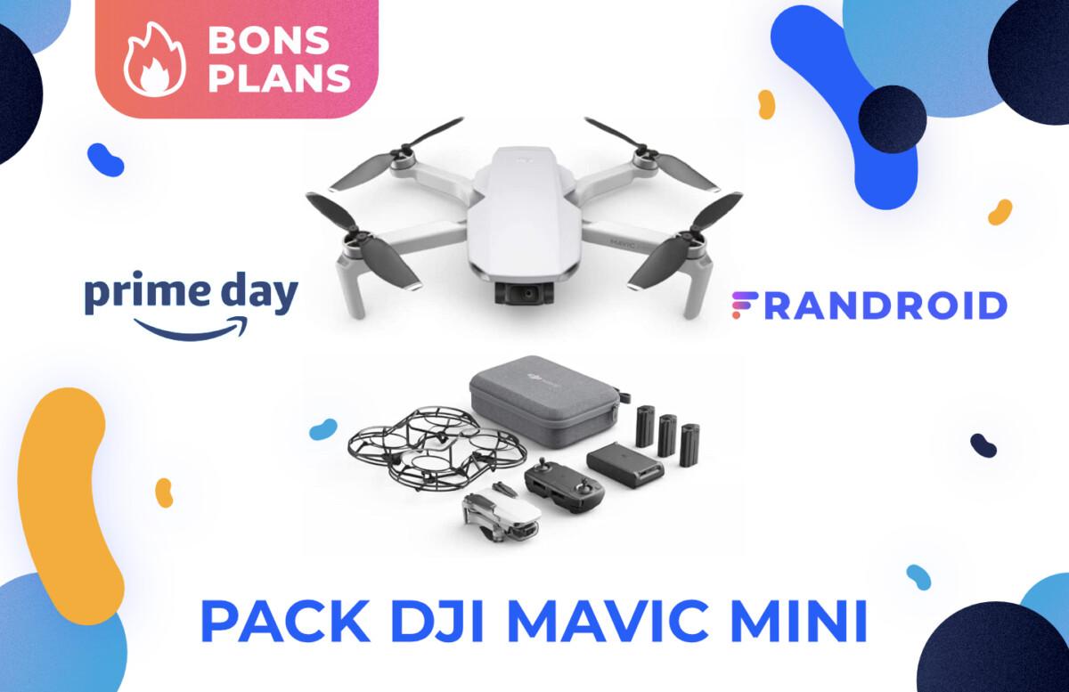 Le DJI Mavic Mini et ses accessoires sont en promotion pour le Prime Day 2021 sur Amazon