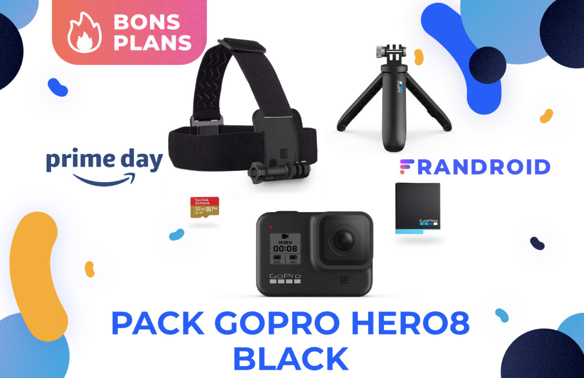 Promotion sur la GoPro Hero8 Black et son kit pour le Prime Day 2021 d'Amazon.