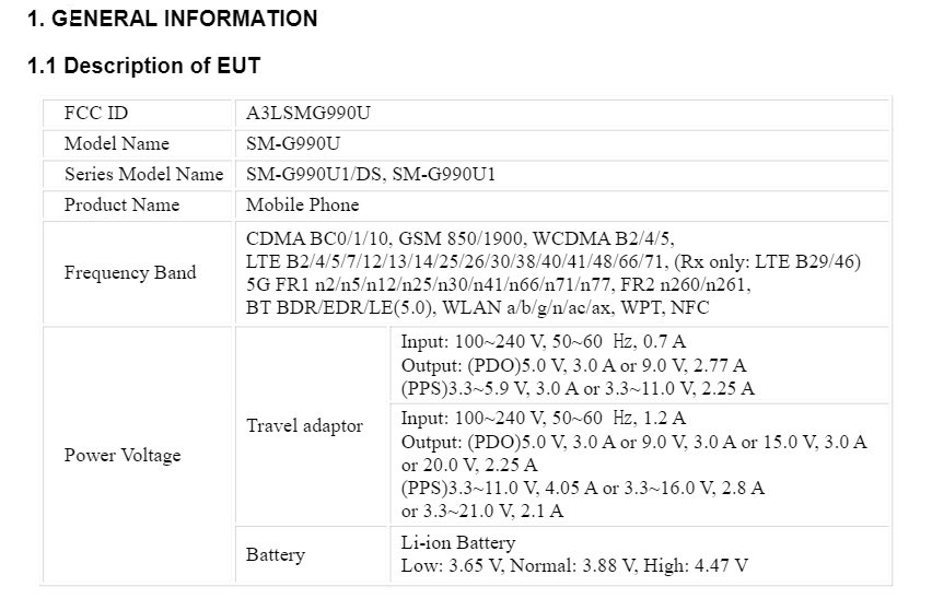 Le Samsung Galaxy S21 FE se chargerait plus vite que le S21 Ultra