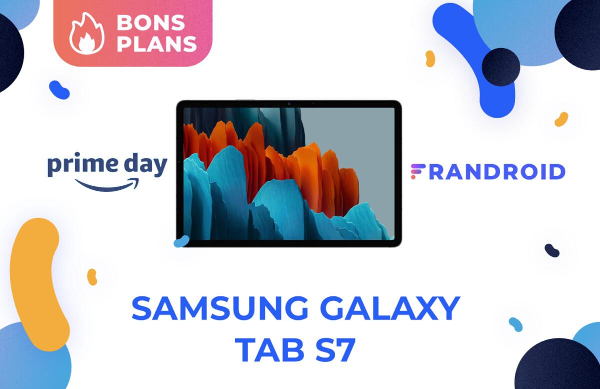 Promotion sur la Samsung Galaxy Tab S7 pour le Prime Day 2021 d'Amazon.