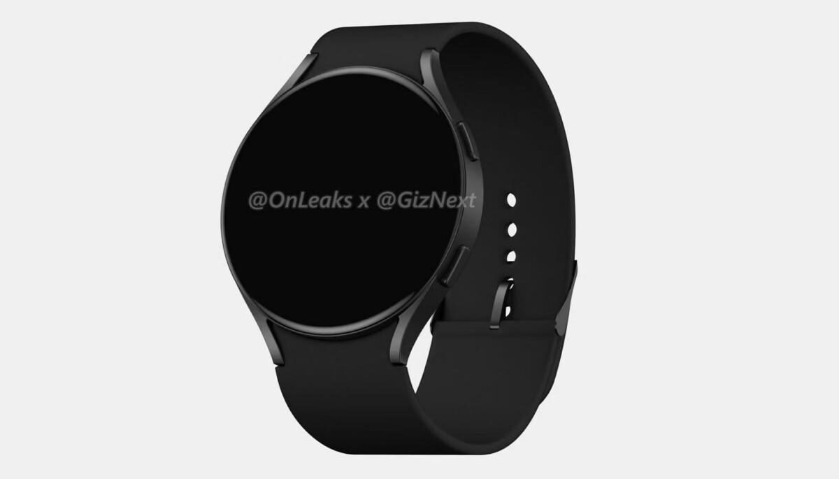 Rendu de la Samsung Galaxy Watch Active 4