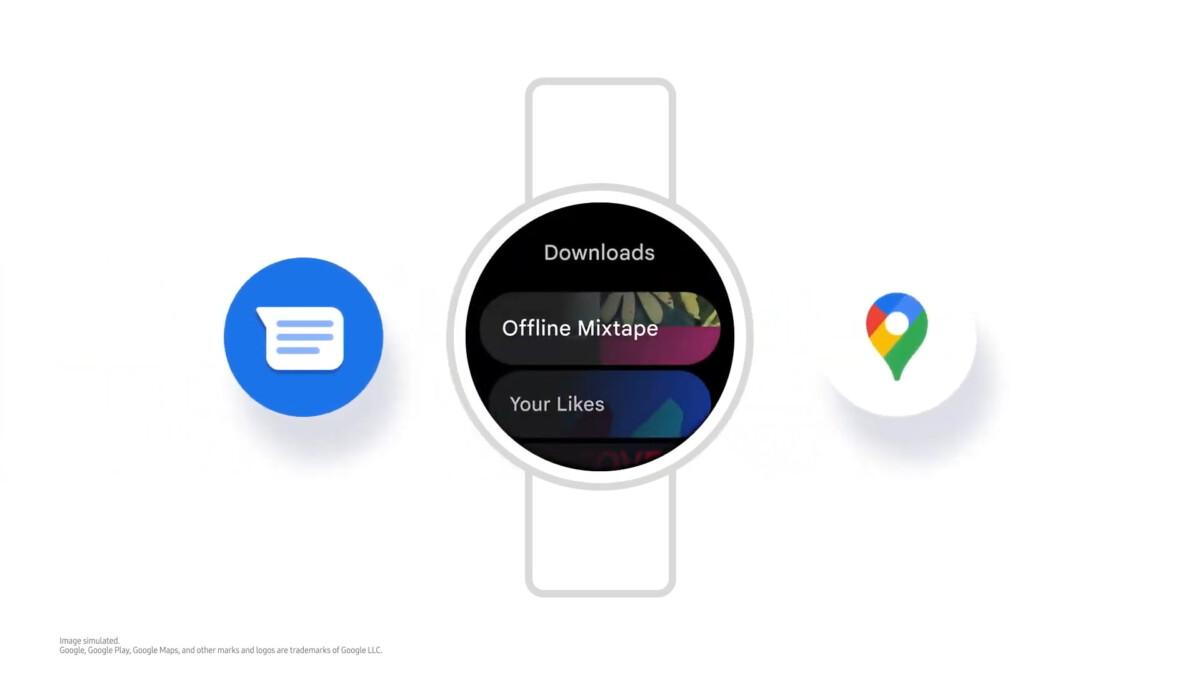 Les applications Google sur une montre Samsung Galaxy Watch