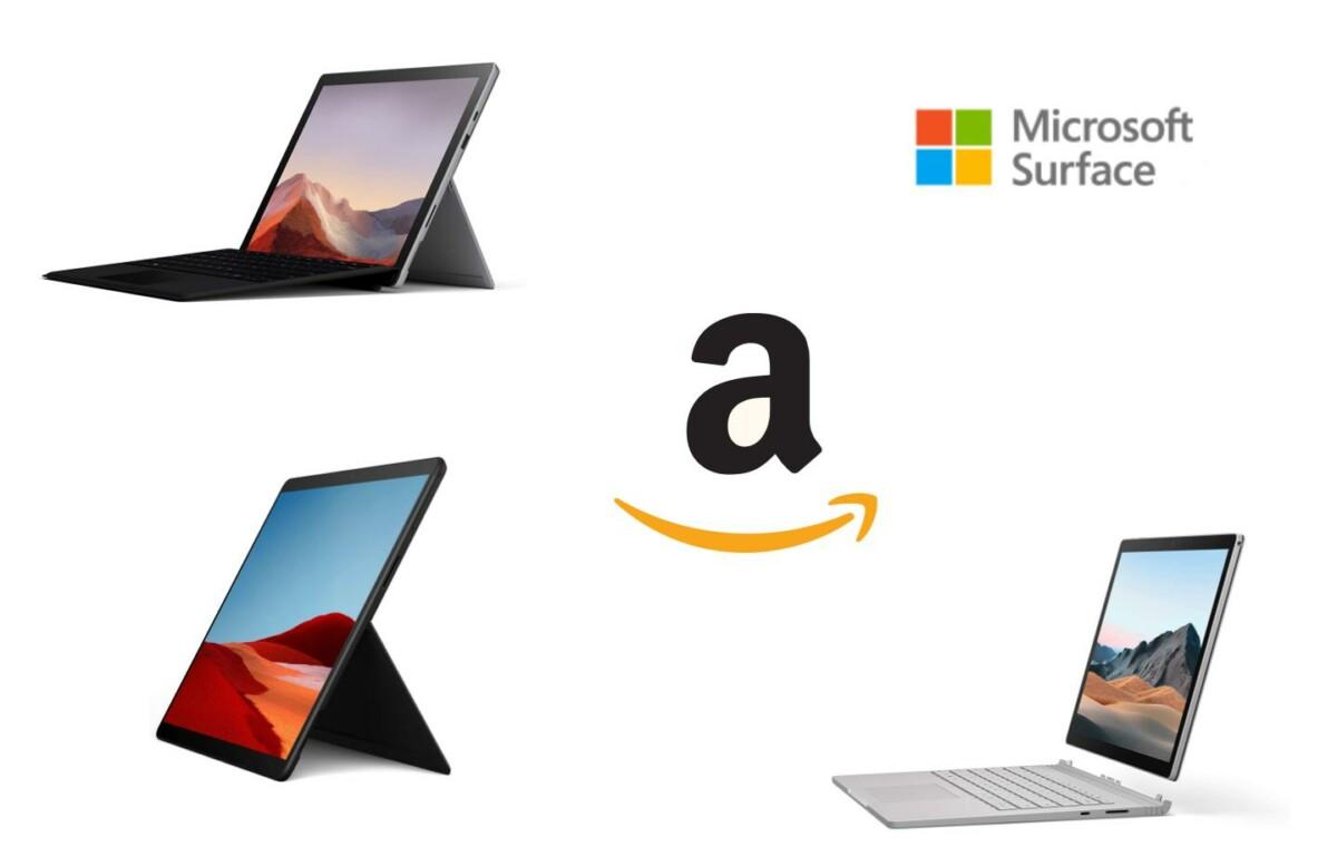Sélection produits Microsoft Surface Pro et Book sur Amazon