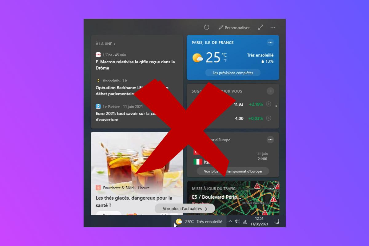 tuto supprimer widget meteo windows 10 - comment supprimer le widget météo de la barre de tâches