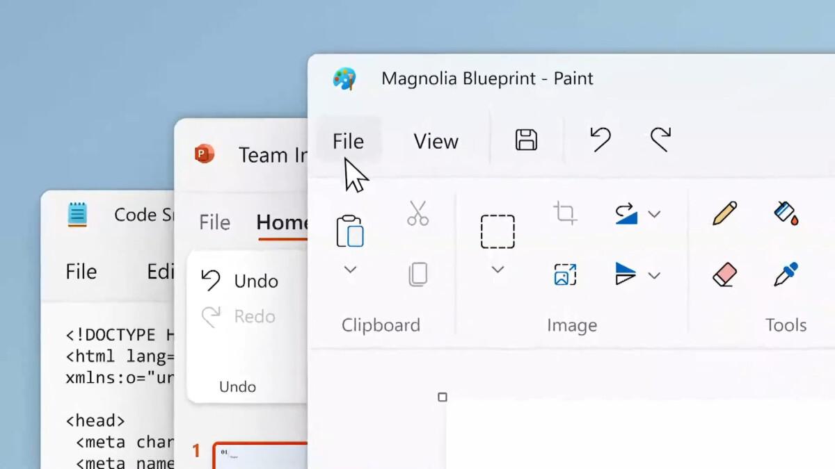 Windows 11 : Microsoft dévoile un tout nouveau look pour Paint