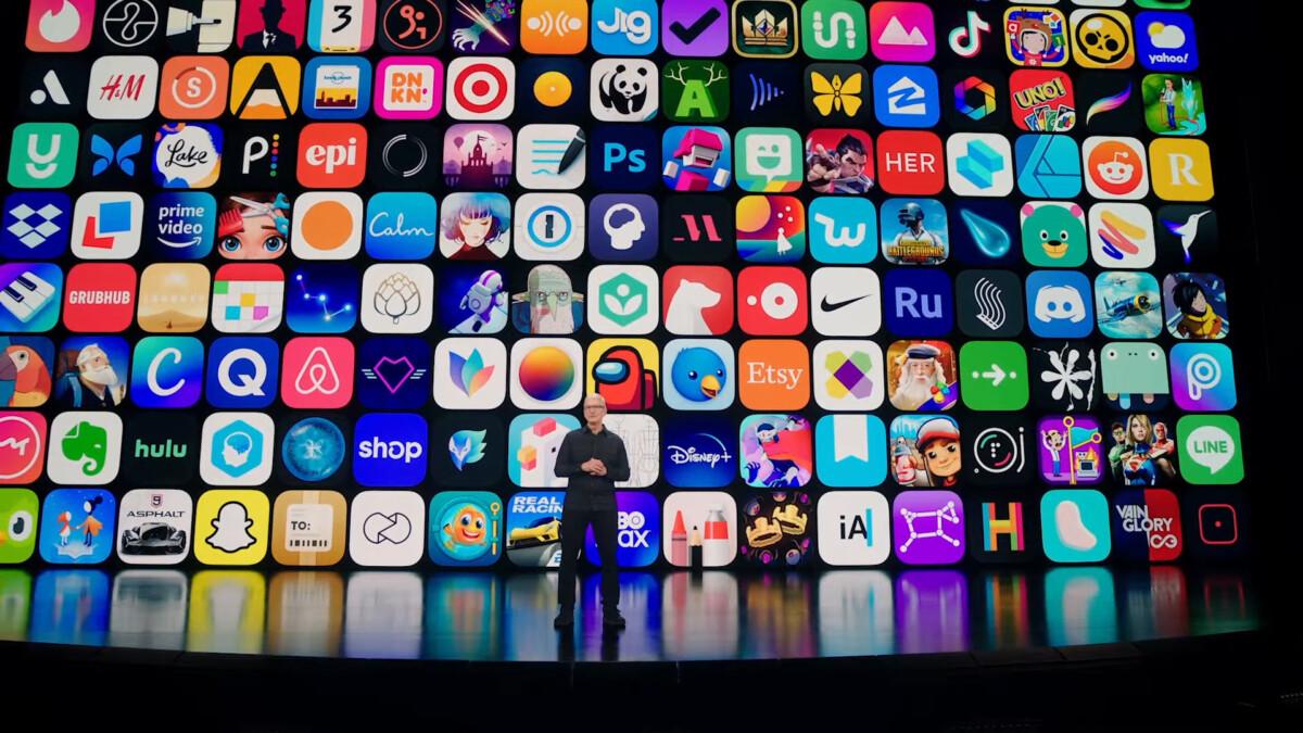 Tim Cook lors de l'introduction de la WWDC 2021.