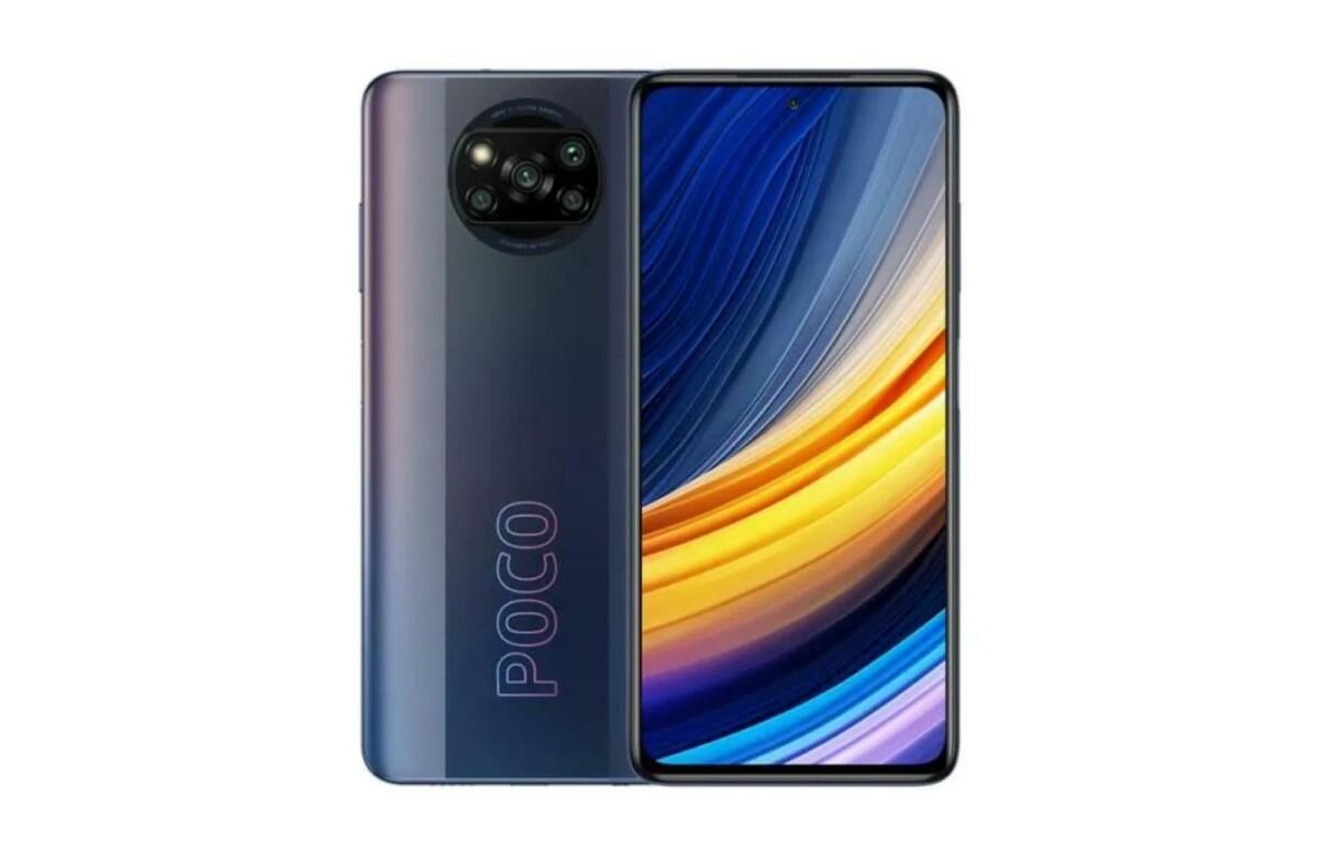 Le Xiaomi Poco X3 Pro dans son coloris nuit obscure