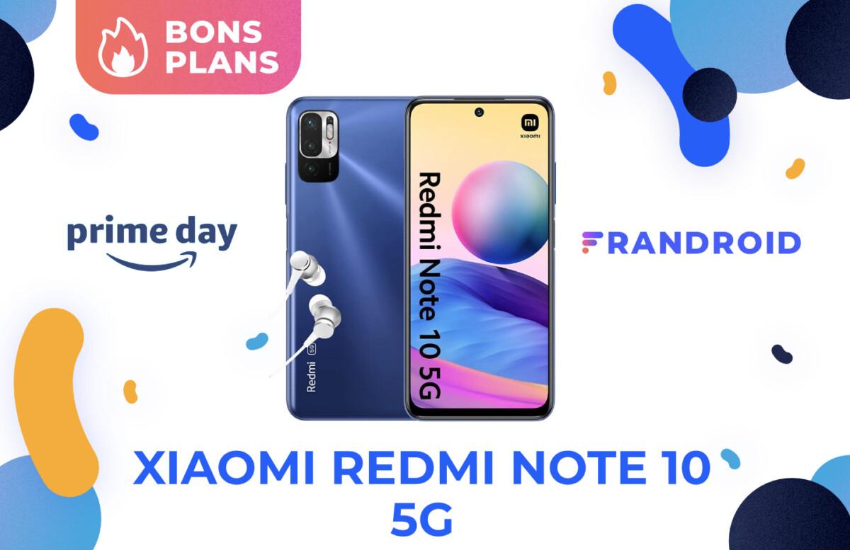 Promotion sur le Xiaomi Redmi Note 10 5G pour le Prime Day 2021 d'Amazon