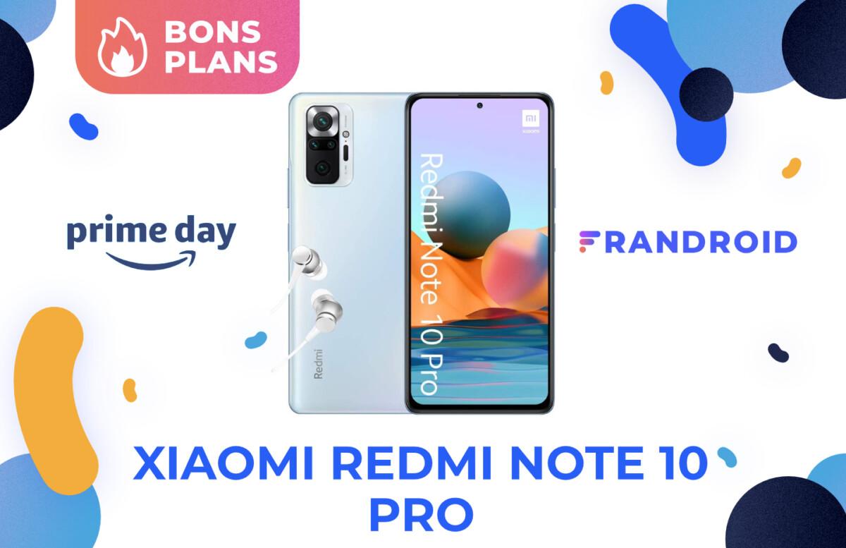 Promotion sur le Xiaomi Redmi Note 10 Pro pour le Prime Day 2021 d'Amazon