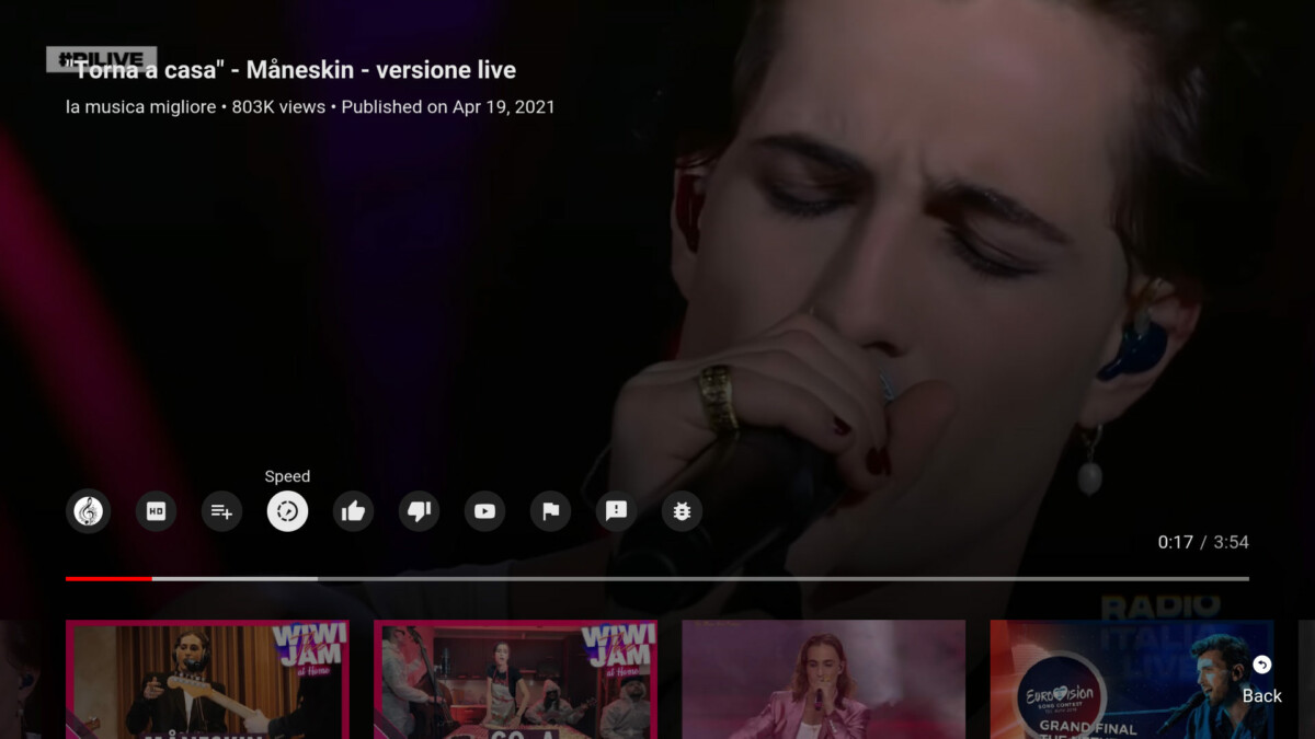 """La fonction """"vitesse de lecture"""" de YouTube sur Android TV"""