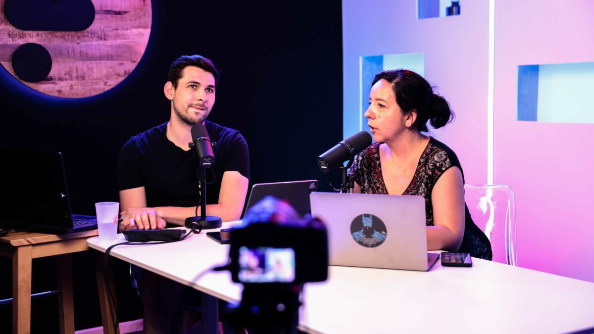 Arnaud et Mélinda sur le live Twitch de Frandroid