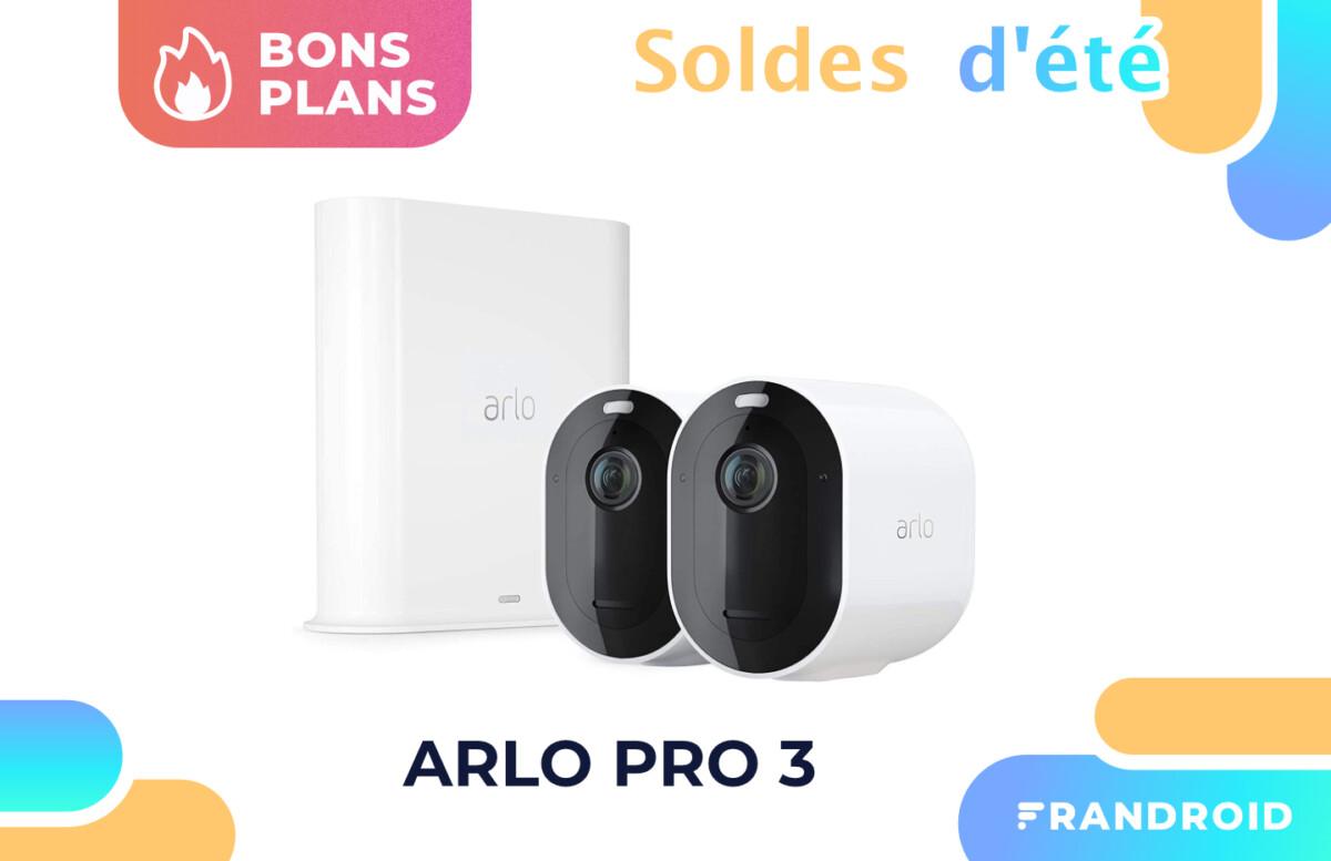 Promotion appliquée sur les Arlo Pro 3 pendant les soldes