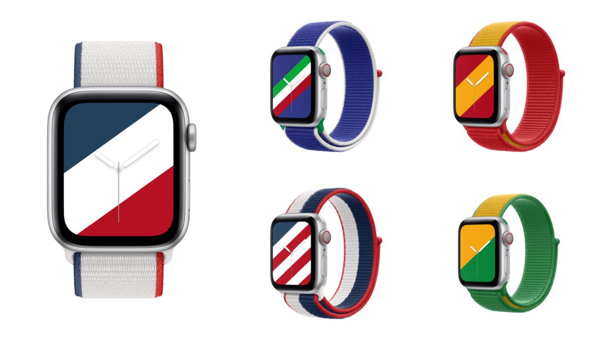 Des bracelets d'Apple Watch pour différents pays