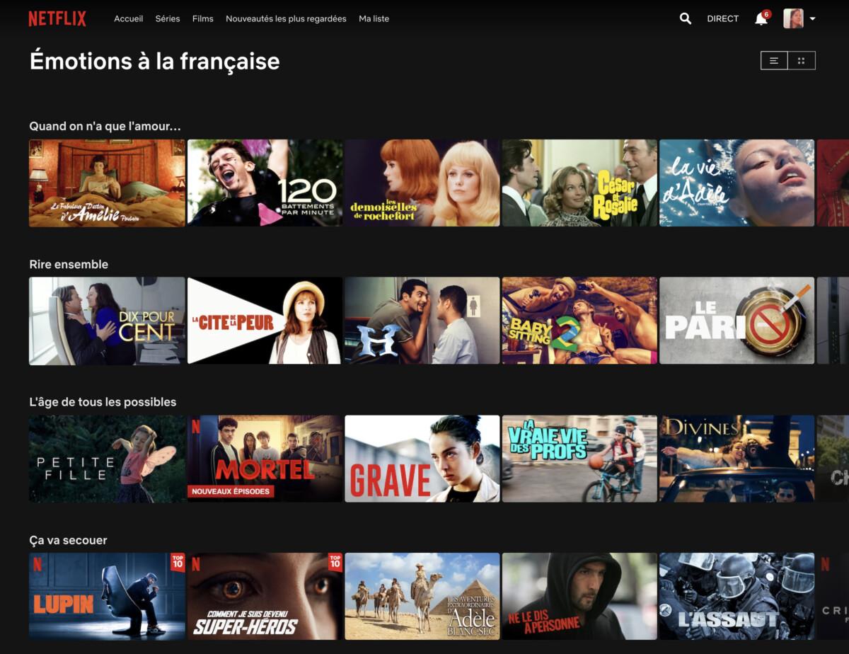Netflix lance une programmation 100% française