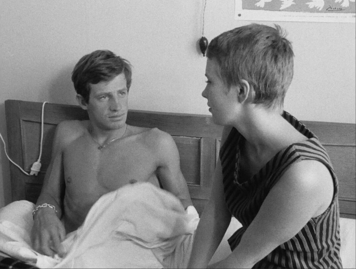 Jean-Paul Belmondo et Jean Seberg dans A bout de souffle» de Jean-Luc Gaudard