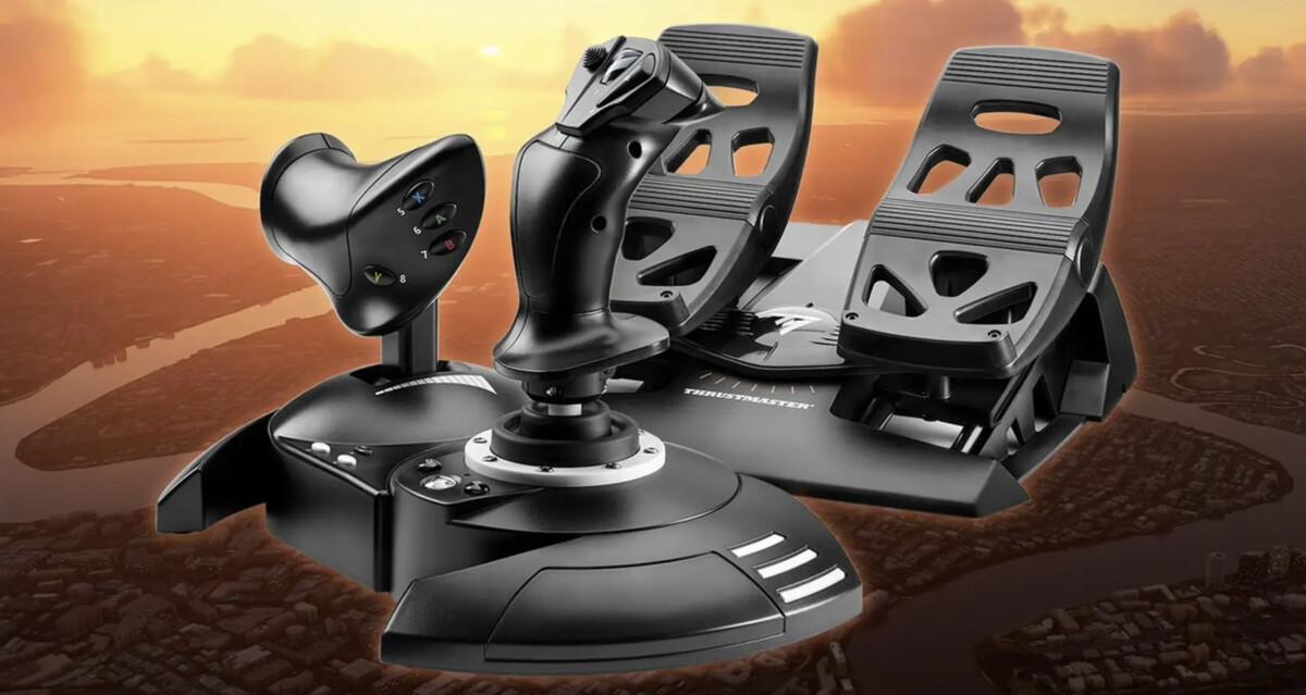 Le kit T.Flight Full Kit X pour jouer à Flight Simulator sur Xbox Series X et Series S