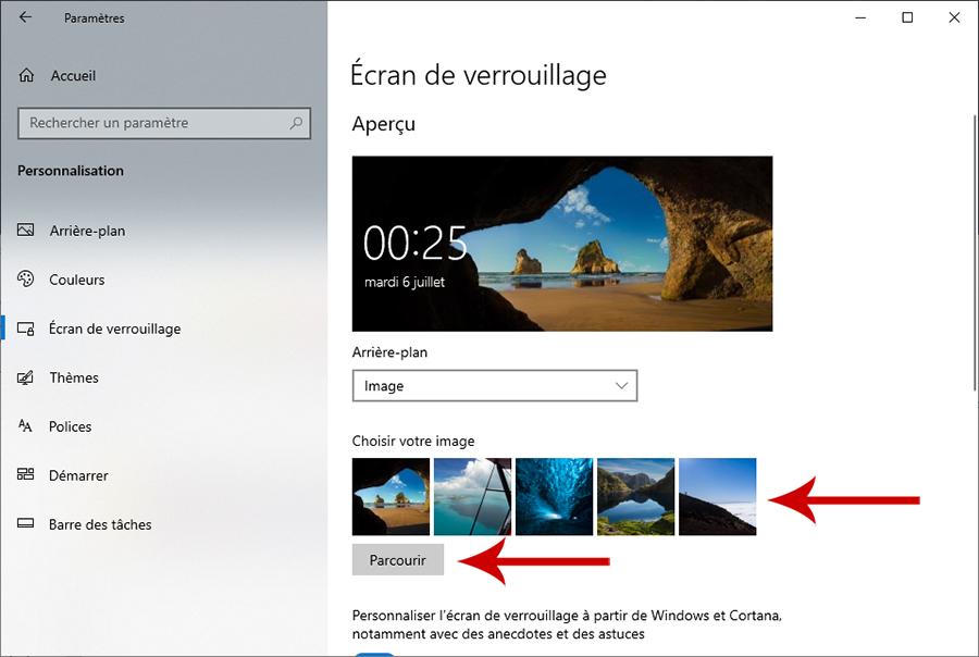 Windows 10 : comment personnaliser l'écran de verrouillage