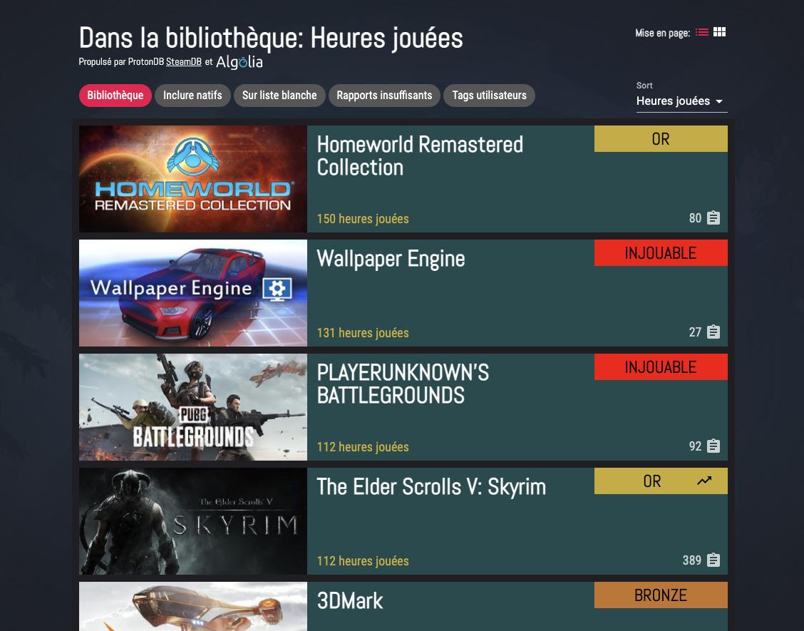 Vous pouvez associer votre compte Steam pour charger votre bibliothèque de jeux