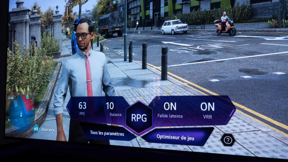 L'affichage de l'optimiseur de jeu en version réduite