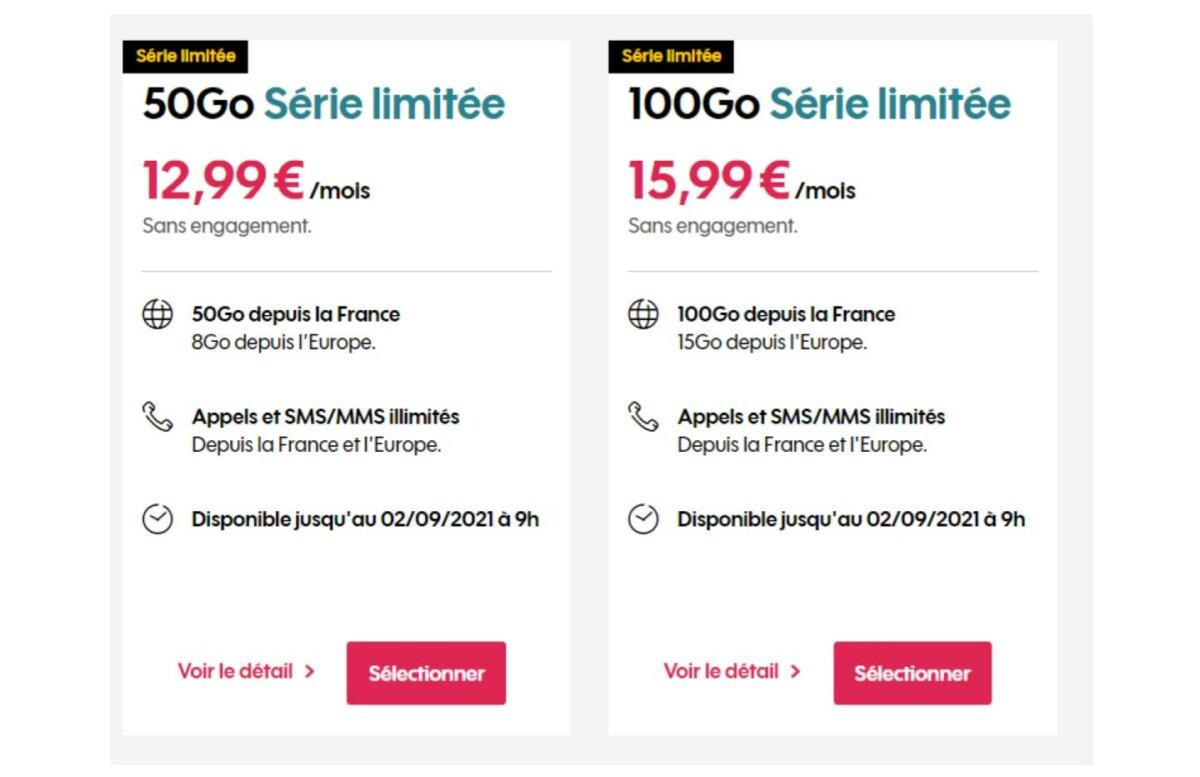 Forfaits mobile Sosh : entre 50 et 100 Go à partir de 12,99 euros par mois