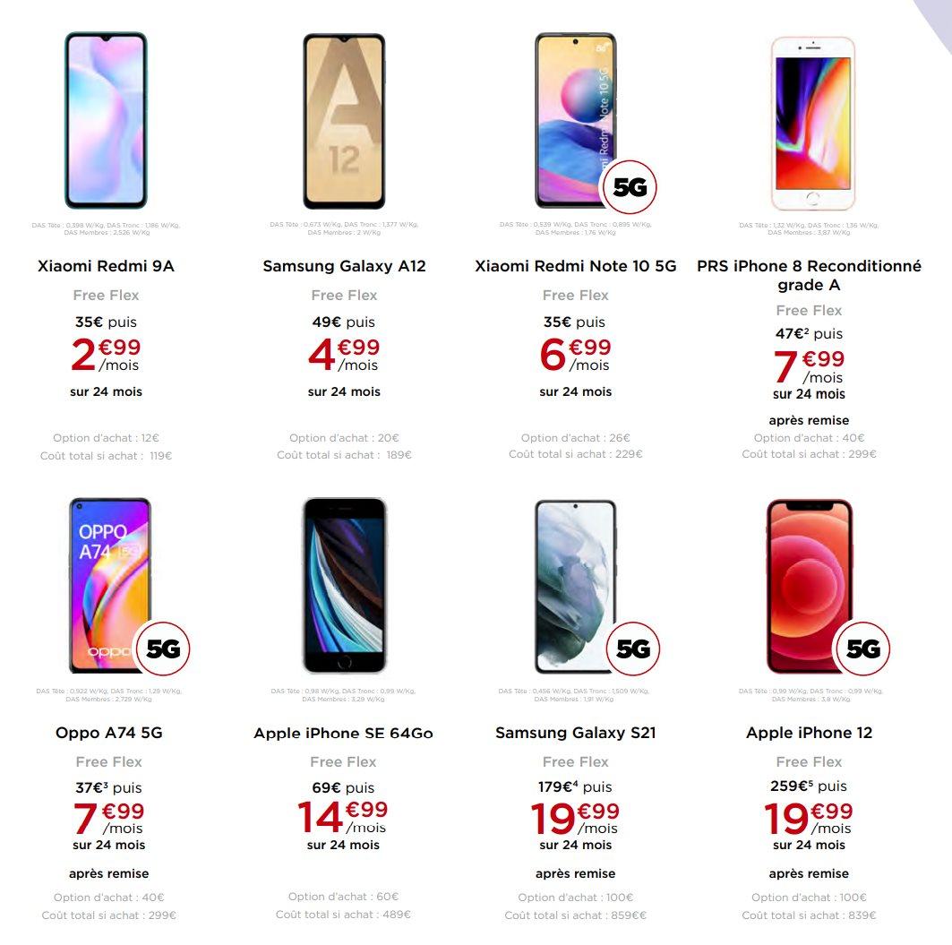 Free Flex : une nouvelle offre de location ou d'achat d'un smartphone sur 24 mois sans frais