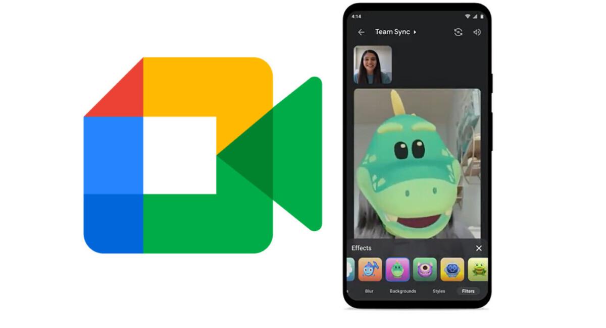 Android: Google Meet enterre encore plus Duo en piochant dans ses filtres amusants