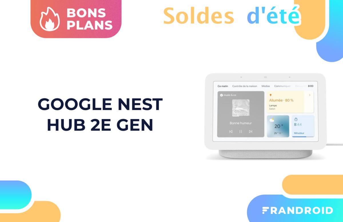 Le nouveau Google Nest Hub 2e Gen est moins cher lors des soldes 2021