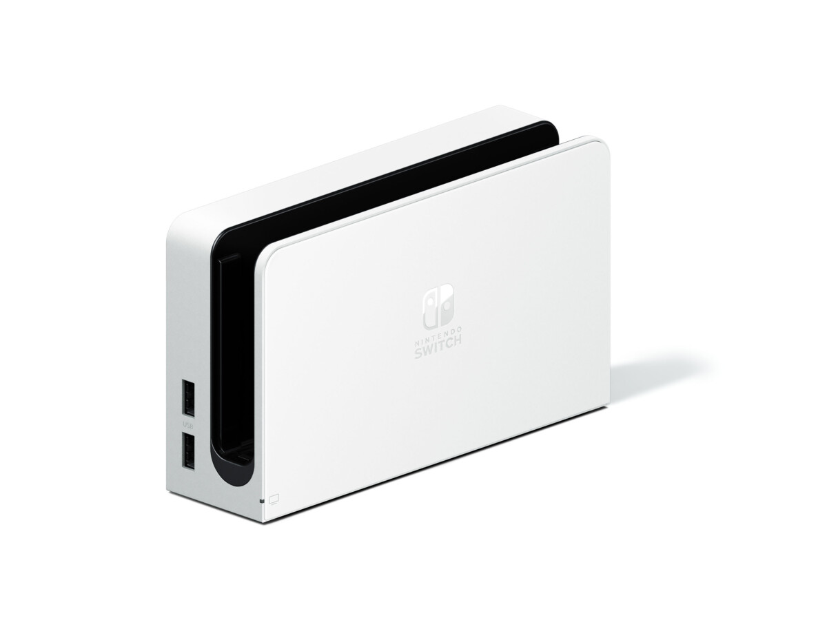 Le dock blanc de la Nintendo Switch OLED