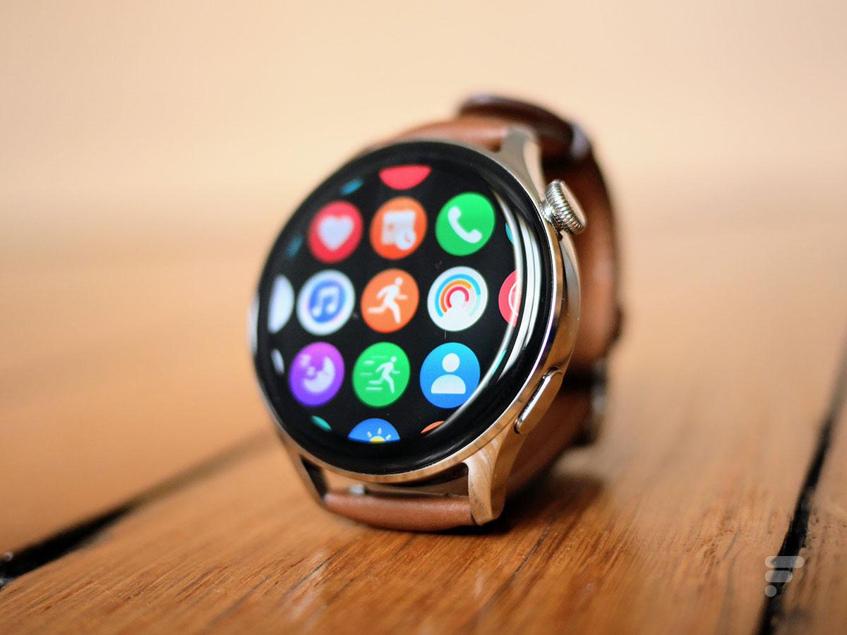 L'écran de la Huawei Watch 3