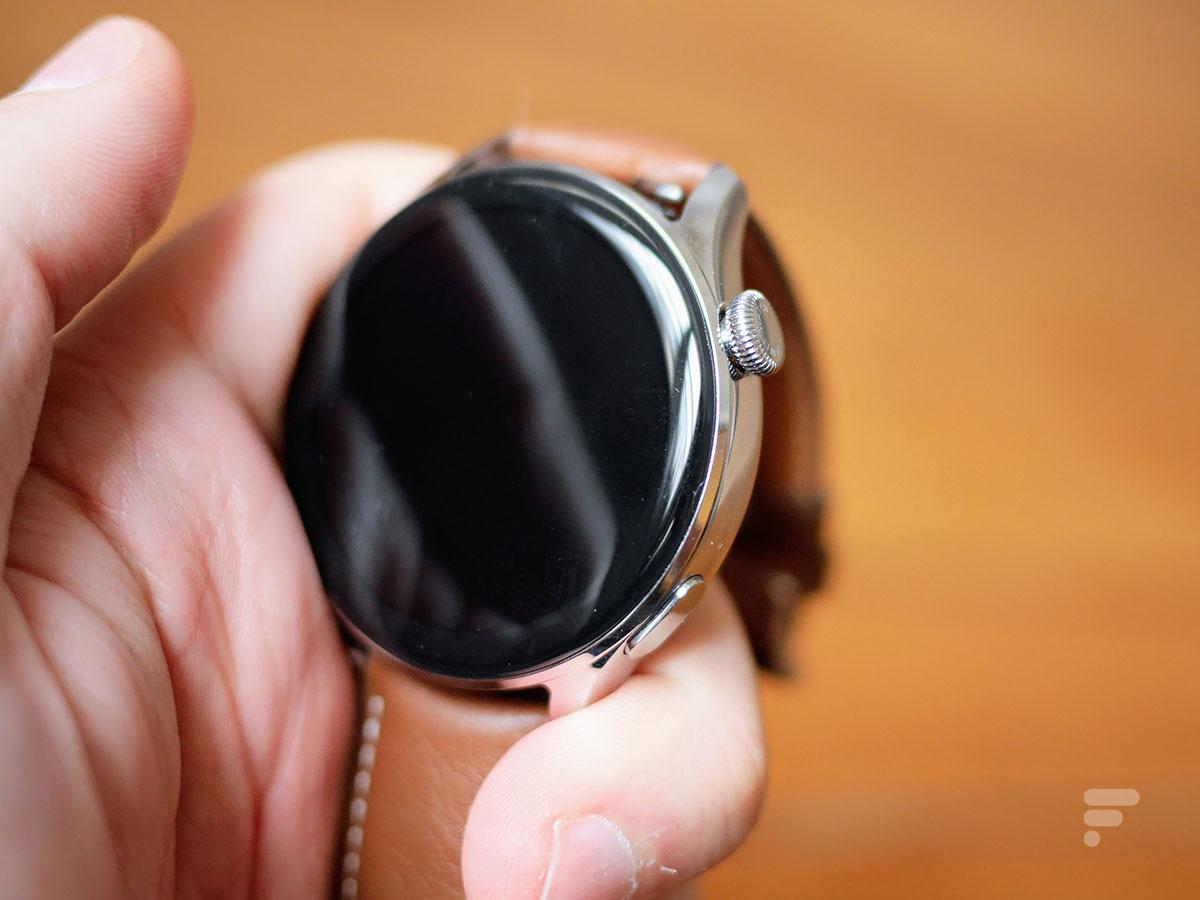 Le boîtier de la Huawei Watch 3