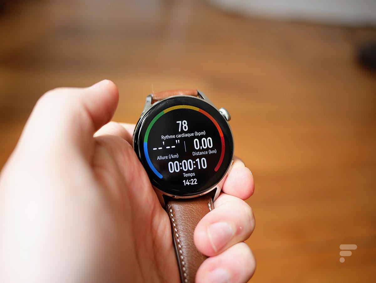 Le suivi d'entraînement sur la Huawei Watch 3