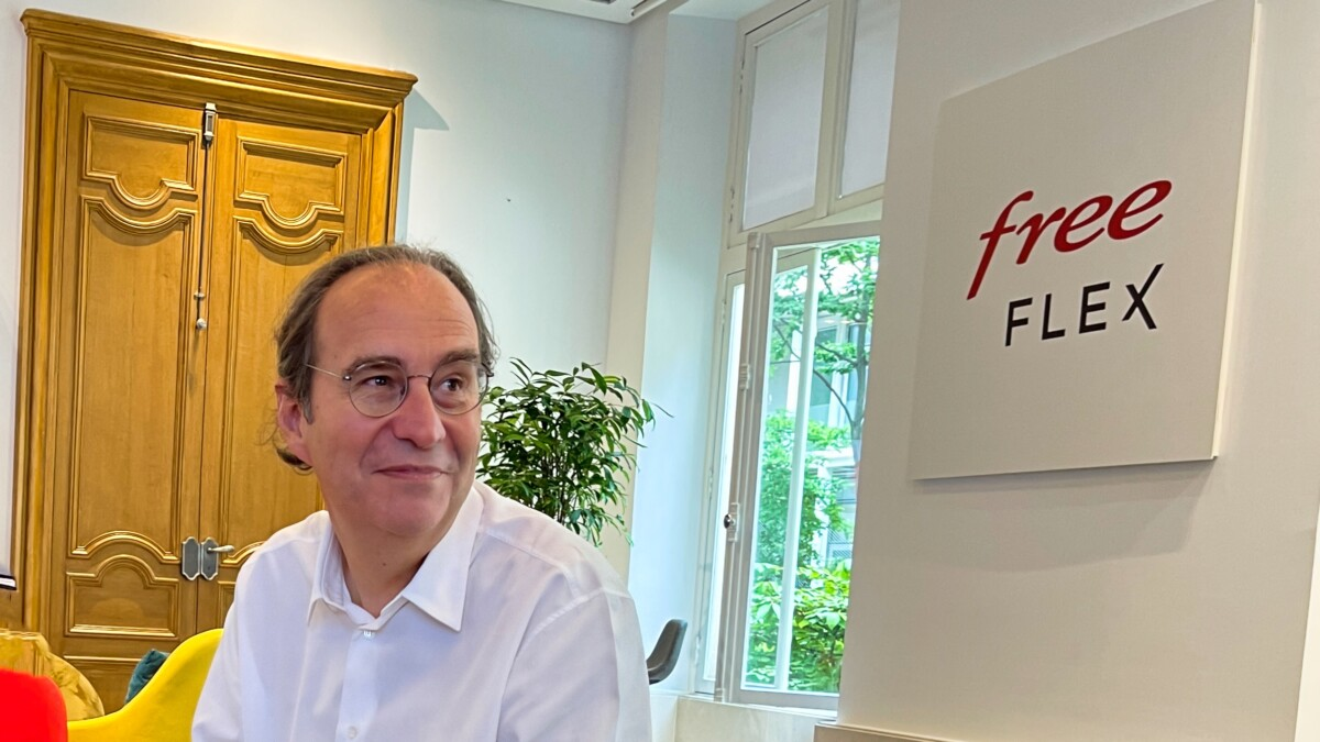 Xavier Niel, le patron d'Iliad, au siège de l'entreprise