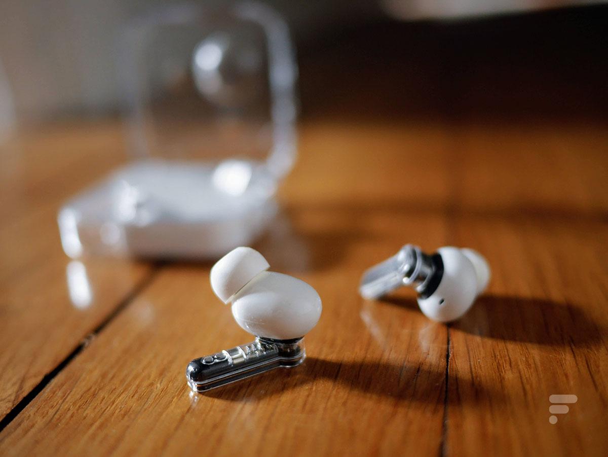 Les écouteurs Nothing Ear 1 sont en partie transparents