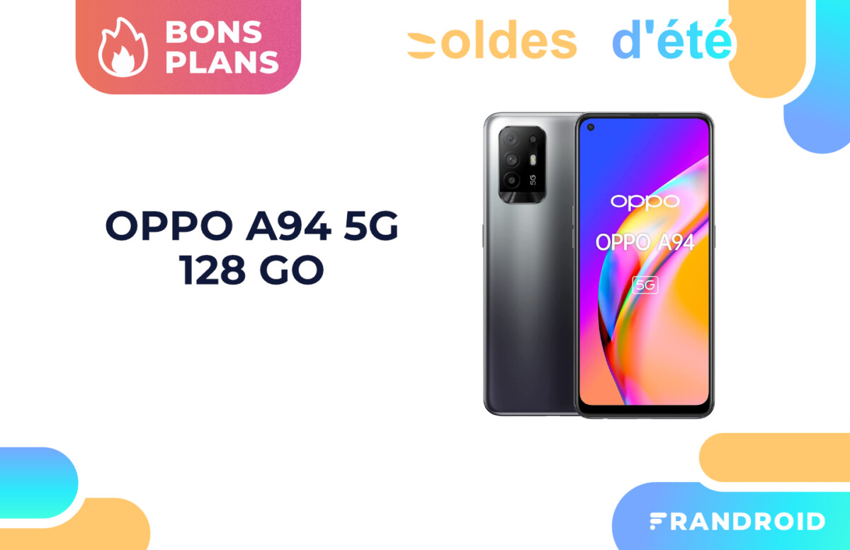 Oppo A94 : le smartphone milieu de gamme 5G passe sous les 300 euros sur Amazon