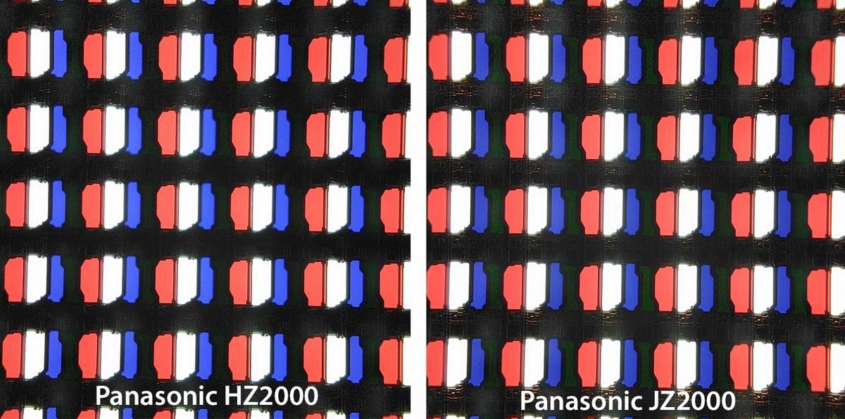 La même structure de pixel sur le HZ2000 et le JZ2000.