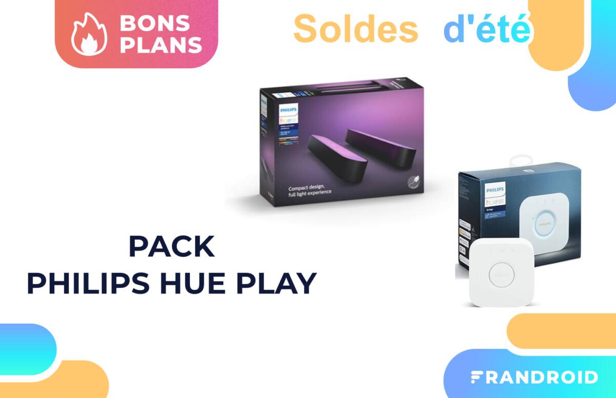 Soldes 2021 : le pack Philips Hue Play + Pont est à -26 %