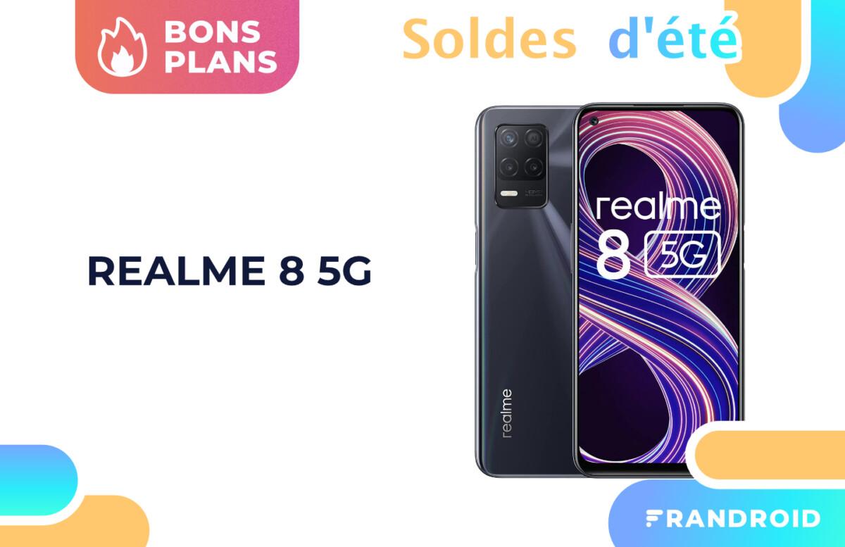 Pendant les soldes, le Realme 8 compatible 5G chute à seulement 179 €