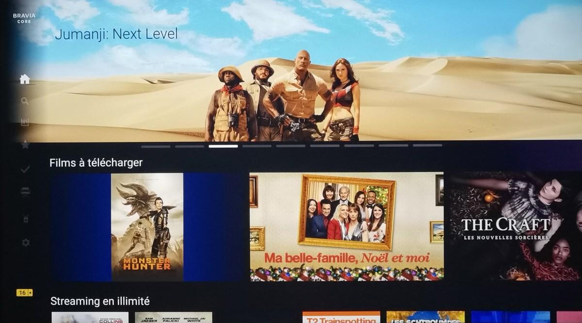 Le service de streaming exclusif Sony Bravia Core est embarqué.