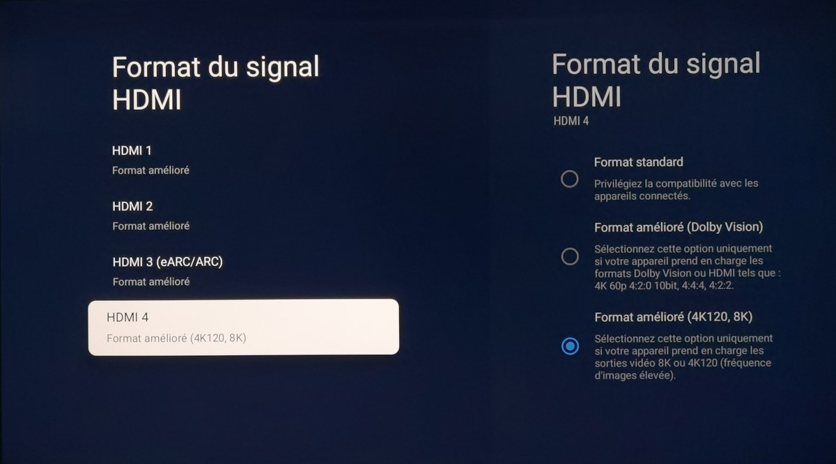 Pensez à débloquer les prises HDMI.