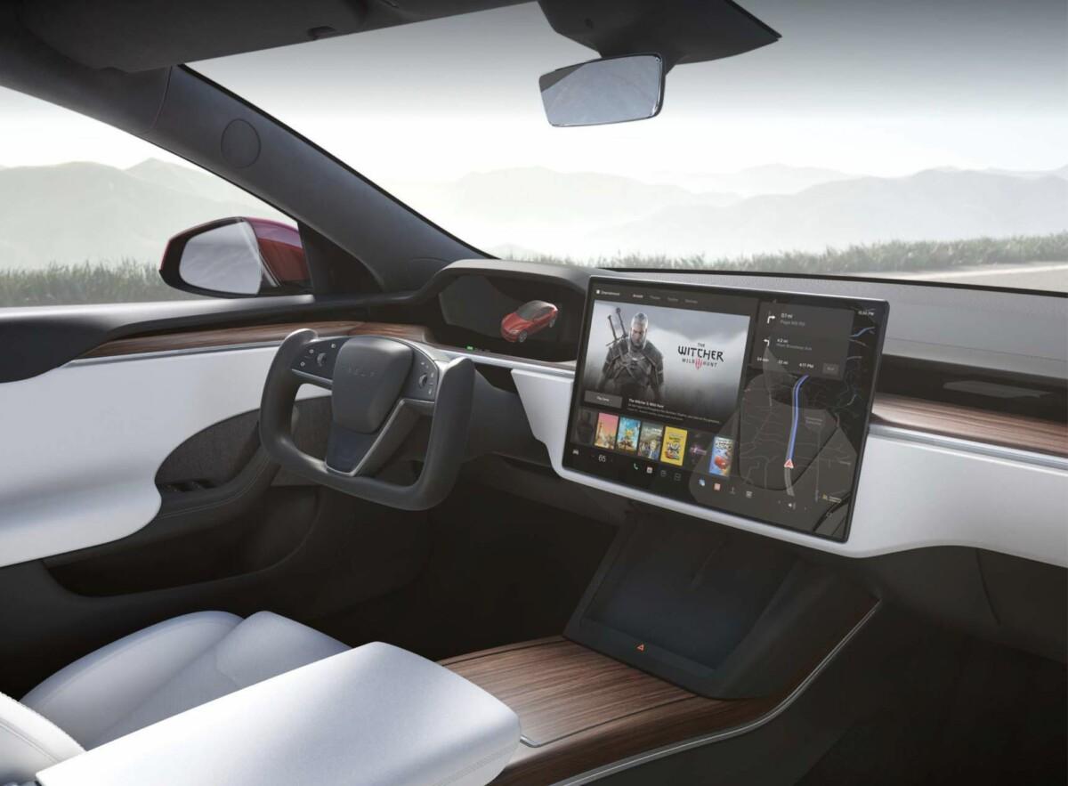 L'intérieur de la Tesla Model S