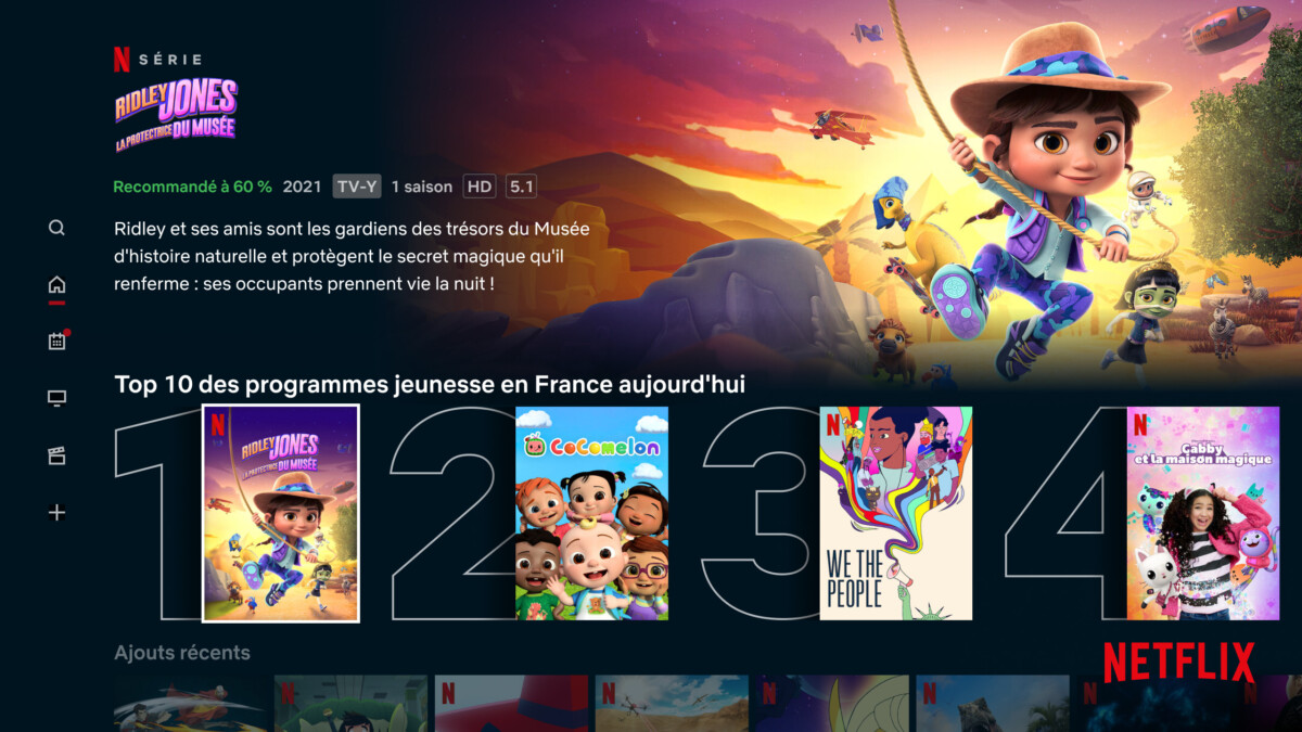 Le Top10 des programmes jeunesse sur Netflix