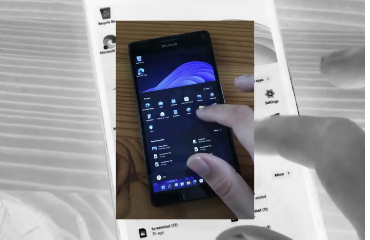 Windows 11 ARM sur un Lumia950 XL