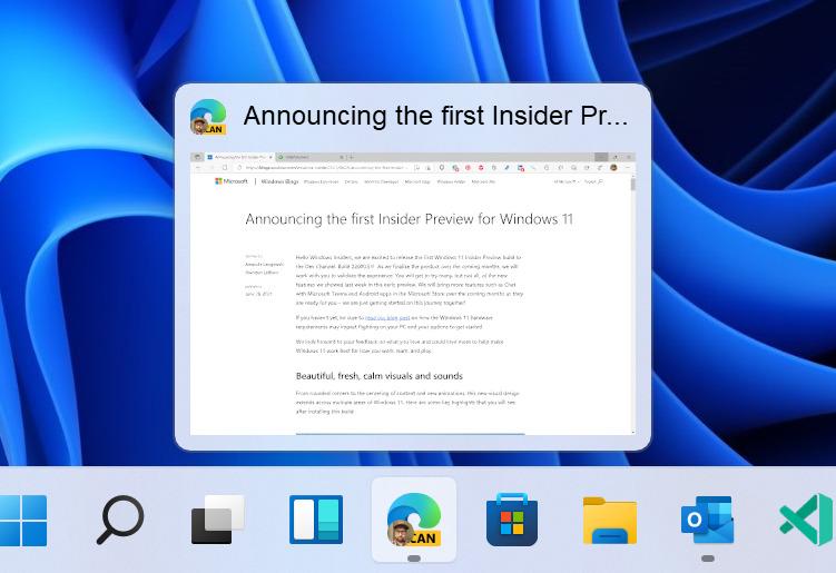 Windows 11 Insider : nouveautés de la build 22000.71 et bêta en approche