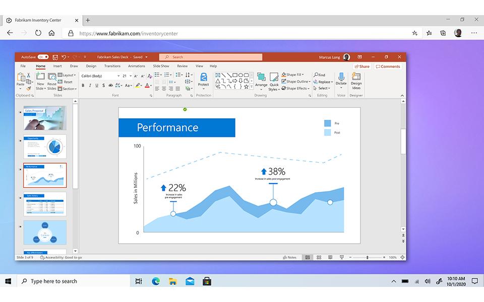 Une capture d'écran de Windows 365