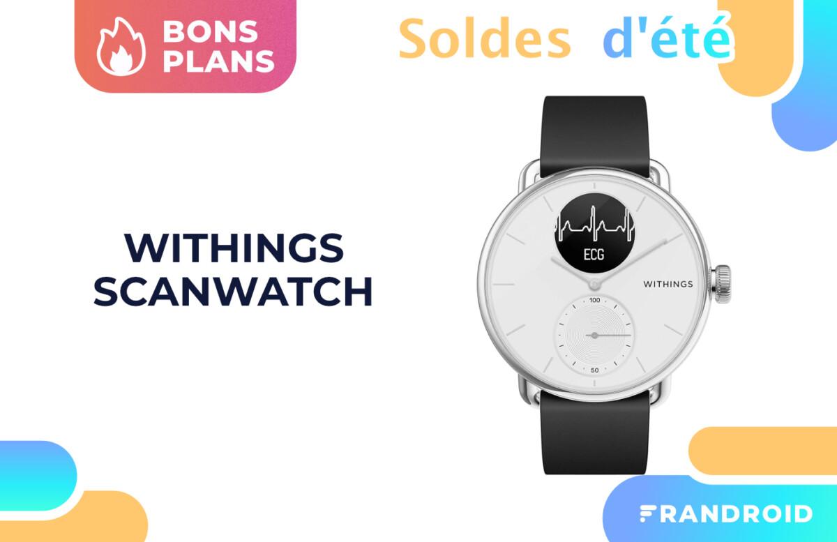 La montre connectée Withings Scanwatch bénéficie d'une réduction de 50 €