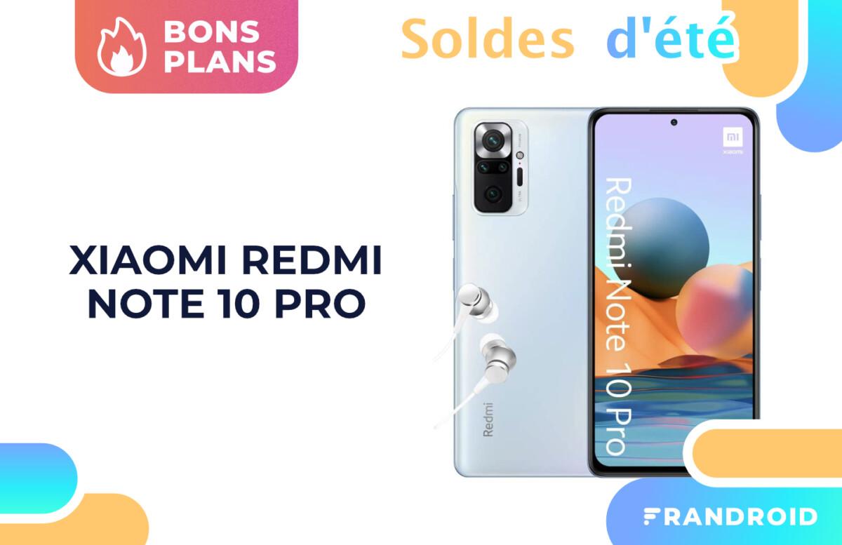 Les soldes font baisser le prix du Xiaomi Redmi Note 10 Pro sur Amazon