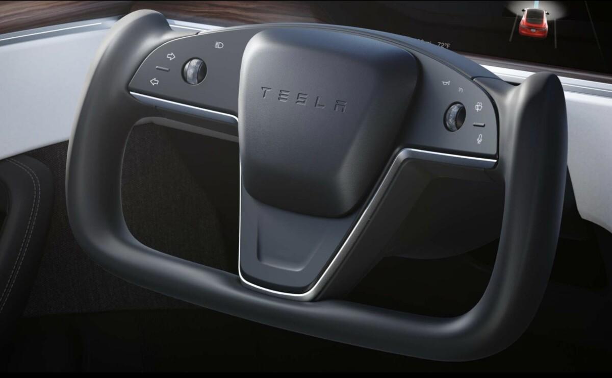 Le fameux yoke de la Tesla Model S