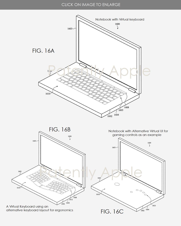 Ce brevet d'Apple décrit un MacBook avec un double écran et sans clavier physique